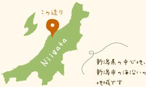 新潟県の中心地、新潟市の海沿いの地域です